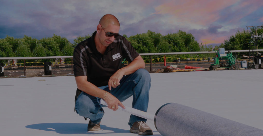 Inspecting an EPDM roof